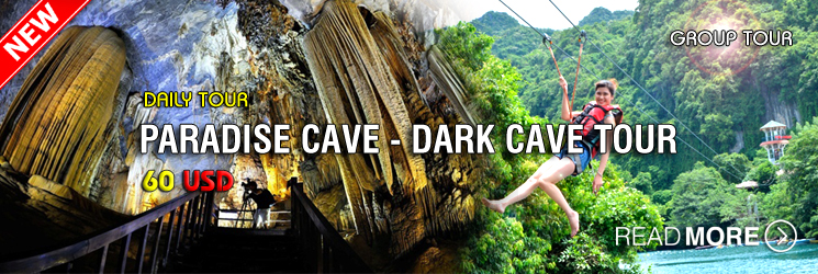 Tour Paradise Cave - Chay River - Dark Cave