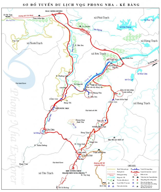 Phong Nha Cave Map
