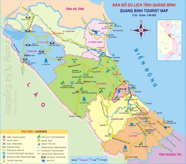 Quang Binh Province Travel Map