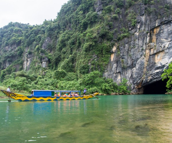 The Entrance To Phong Nha Cave, Whihc Is Accessible Only By Water