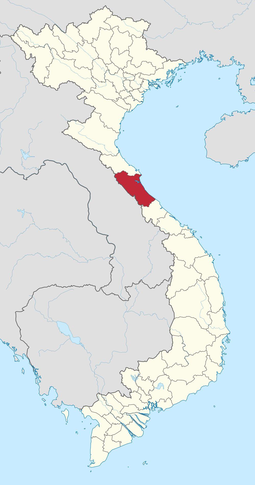 Bản đồ Quảng Bình qua vệ tinh