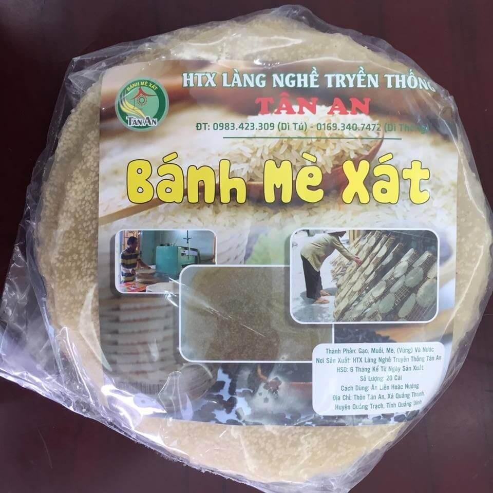 Bánh tráng mè xát Tân An Quảng Bình