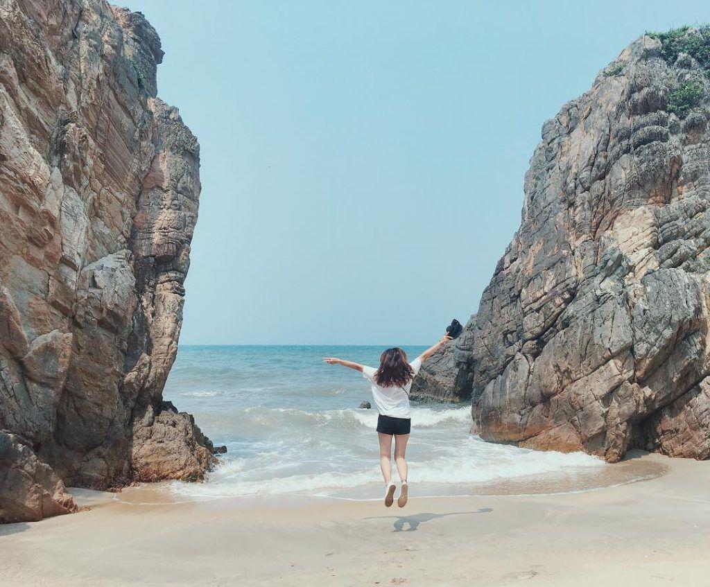 Biển Đá Nhảy thực sự là thiên đường cho những bạn yêu thích chụp ảnh